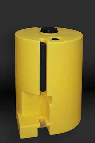 Yellow 35 Gallon Polyethelyne Tank with Flooded Suction