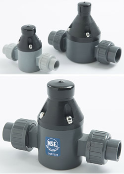 "1/2"" Uni-Body Back Pressure Valve - CPVC - Union"