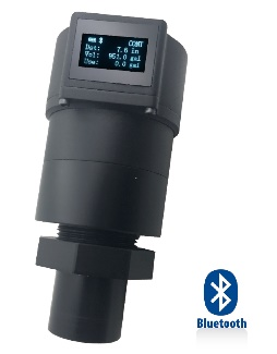 "Ultrasonic Level Sensor w/Display 0-78"" Bluetooth,"